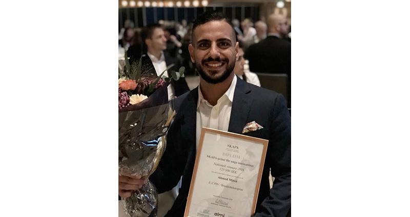 innovatocc88r 800x423 - Ahmed Mireé, VD på Progressive Safety, har utsetts till Sveriges främsta unga innovatör.